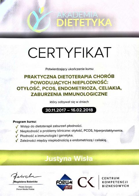Justyna Płoskonka dietetyk niepłodność