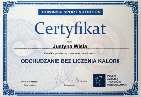 Justyna Płoskonka dietetyk odchudzanie bez liczenia kcal