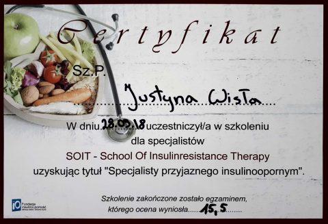 Justyna Płoskonka dietetyk insulinooporność
