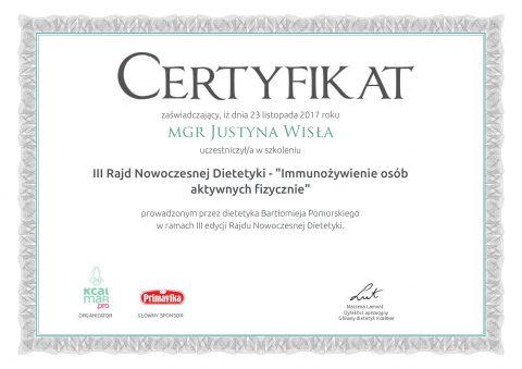 Justyna Płoskonka dietetyk Immunożywienie osób aktywnych fizycznie