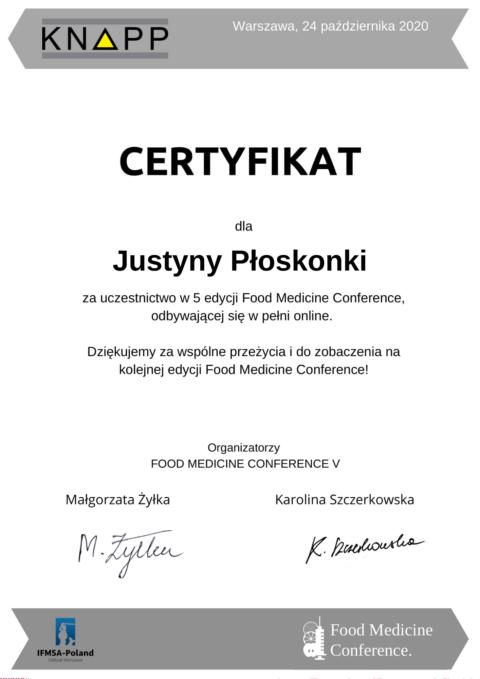 Justyna Płoskonka - kongres