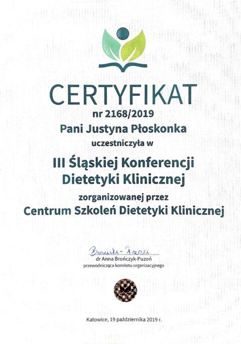Justyna Płoskonka - dietetyk - śląska konferencja dietetyki klinicznej