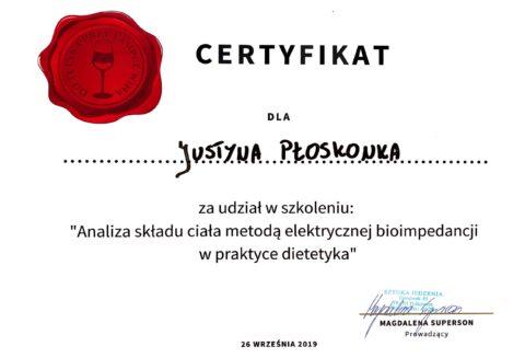 Justyna Płoskonka - szkolenie dietetyk - analiza składu ciała