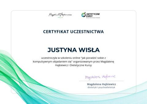 Justyna Płoskonka - szkolenie dietetyk - emocjonalne jedzenie