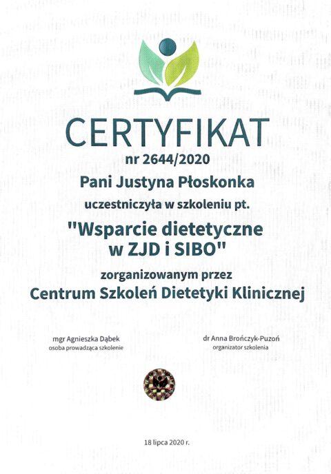 Justyna Płoskonka - szkolenie dietetyk - ibs sibo