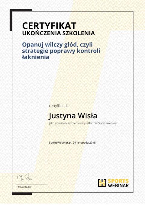 Justyna Płoskonka - szkolenie dietetyk - łaknienie