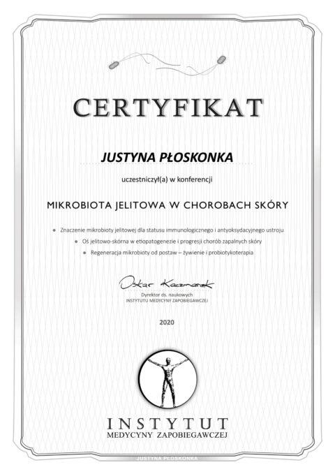 Justyna Płoskonka - szkolenie dietetyk - mikrobiota