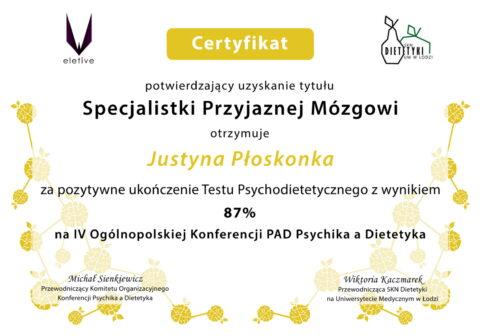 Justyna Płoskonka - szkolenie dietetyk - mózg