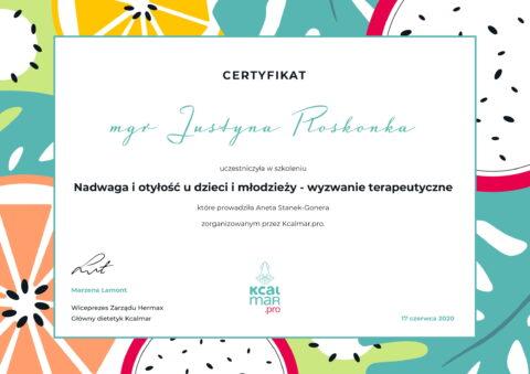Justyna Płoskonka - szkolenie dietetyk - nadwaga otyłość