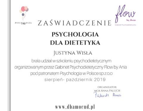 Justyna Płoskonka - szkolenie dietetyk - psychodietetyka