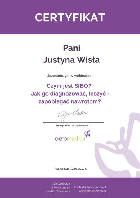 Justyna Płoskonka - szkolenie dietetyk - sibo jelita
