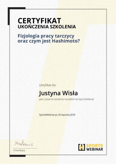 Justyna Płoskonka - szkolenie dietetyk - tarczyca