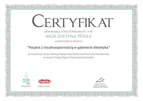 Justyna Płoskonka dietetyk pacjent z insulinoopornością