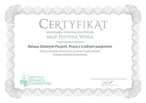 Justyna Płoskonka dietetyk Relacja Dietetyk-Pacjent. Praca z trudnym pacjentem