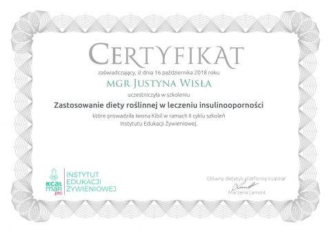 Justyna Płoskonka dietetyk Zastosowanie diety roślinnej w leczeniu insulinooporności