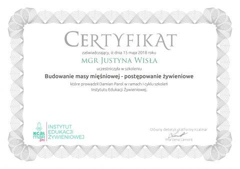 Justyna Płoskonka dietetyk budowanie masy mięśniowej