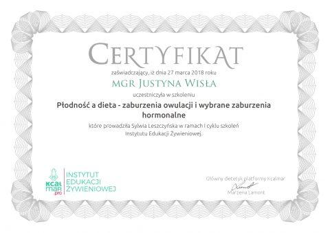 Justyna Płoskonka dietetyk płodność