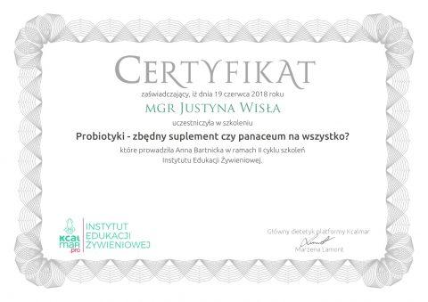 Justyna Płoskonka dietetyk probiotyki
