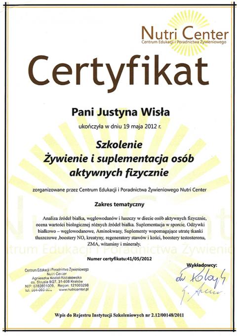 Justyna Płoskonka dietetyk sport