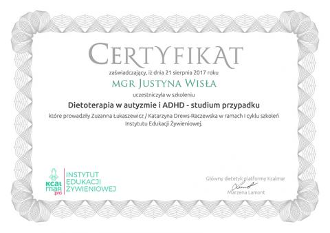 Justyna Płoskonka psychodietetyk ADHD kcalmar