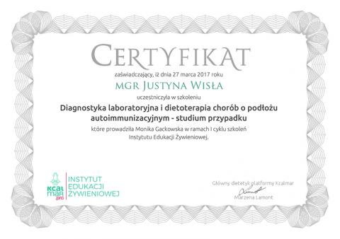 Justyna Płoskonka psychodietetyk choroby autoimmunologiczne kcalmar