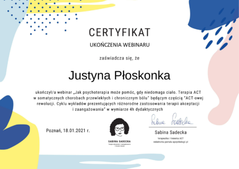 Justyna Płoskonka dietetyk psychodietetyk online